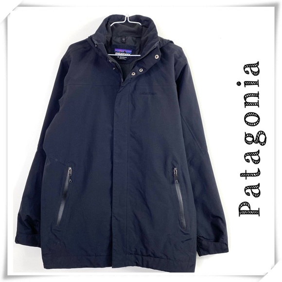 Patagonia Torrentshell Hood Rain Jacket Black Sz S